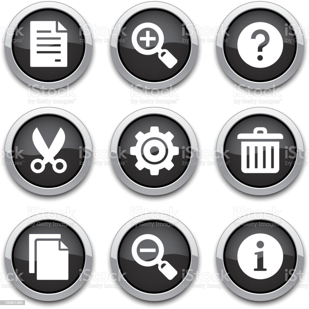 basic application buttons royalty-free stock vector art