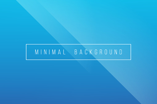 Basic Blue Minimal Elegant Abstract Lineer Crease Pattern Vector Background Stock Illustration - Download Image Now