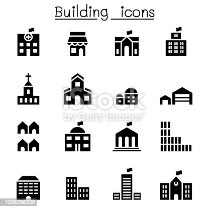Basic building icon set