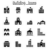 Basic building icon set