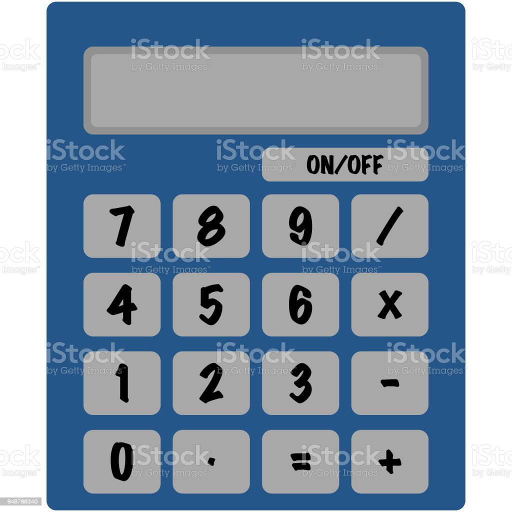 Basic Calculator Illustration Stock Vector Art & More Images of ...