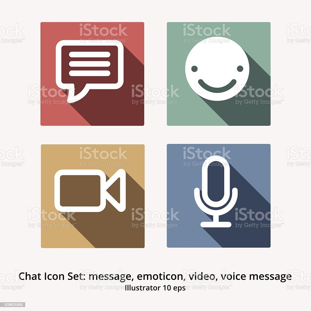 Basic chat icon set message emoticon video chat voice message basic chat icon set message emoticon video chat voice message royalty biocorpaavc