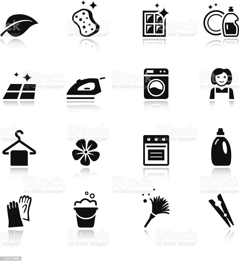 Basicreinigung Symbole Stock Vektor Art und mehr Bilder von ...