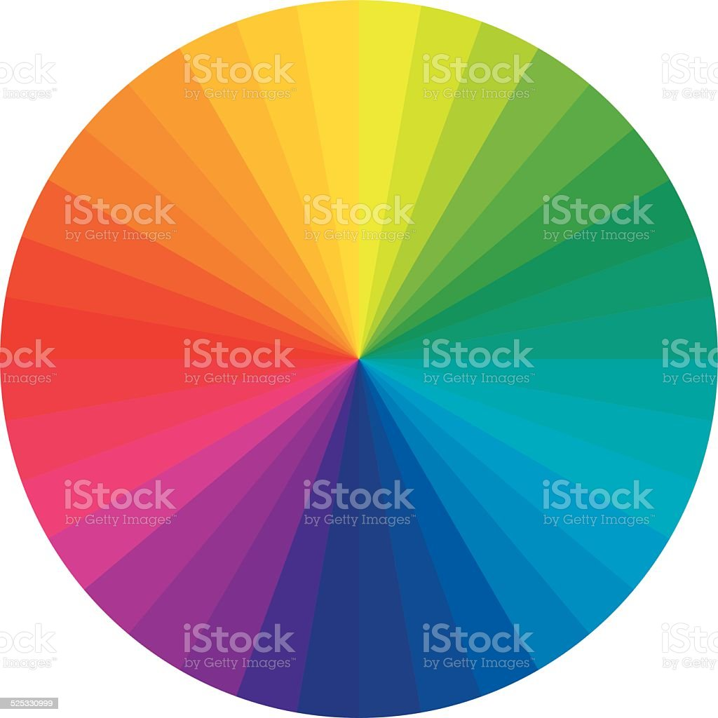 Basic color wheel vector art illustration