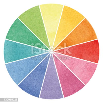 istock Basic color wheel – watercolor illustration 1130988226