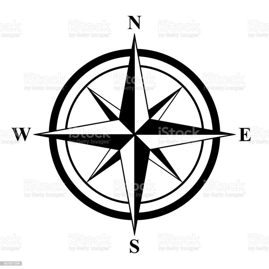 basic compass rose stock vector art more images of adventure rh istockphoto com free vector compass free compass vector logo