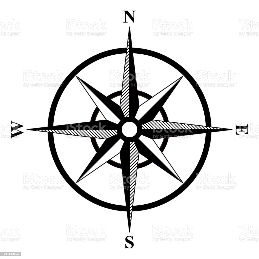 basic compass rose stock vector art more images of adventure rh istockphoto com compass rose vector free compass rose vector art
