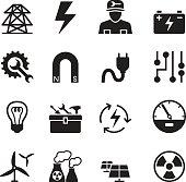 Basic Electricity icons set