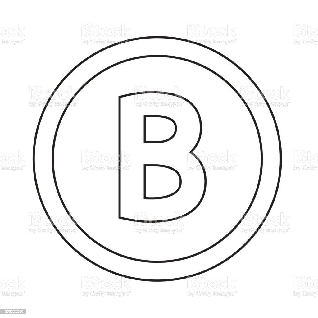 ilustração de fonte básica para ícone letra b desenho ilustração e