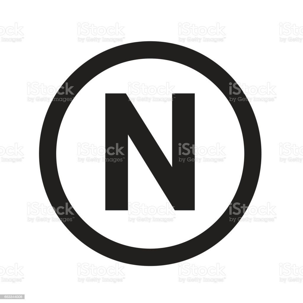 基本的なフォント文字 N アイコン イラスト デザイン アルファベットの