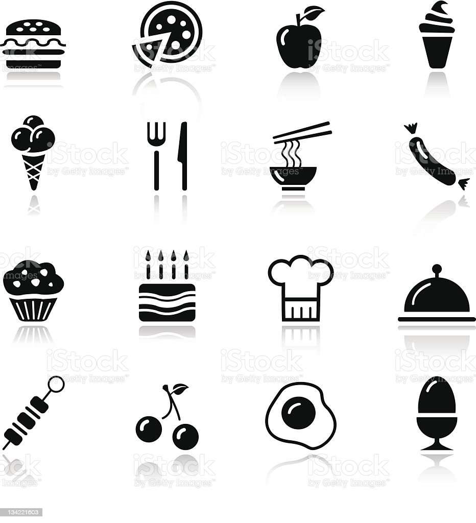 Basic - Food Icons royalty-free basic food icons stock vector art & more images of apple - fruit