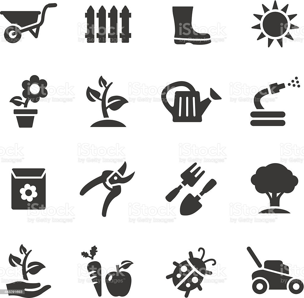Basic - Gardening icons vector art illustration