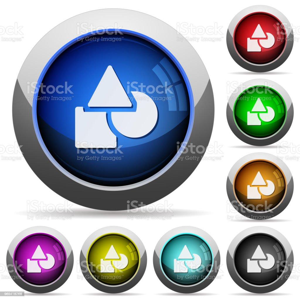 Basic geometric shapes round glossy buttons basic geometric shapes round glossy buttons - stockowe grafiki wektorowe i więcej obrazów bez ludzi royalty-free