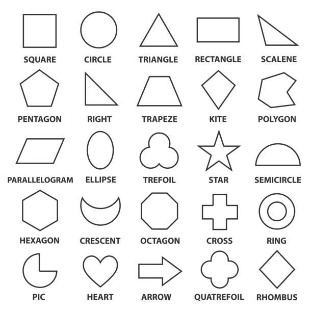 기본 도형 - 단순함 stock illustrations