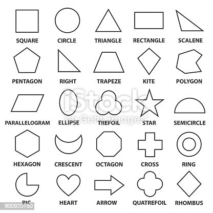Basic Geometric Shapes Stock Vector Art & More Images of