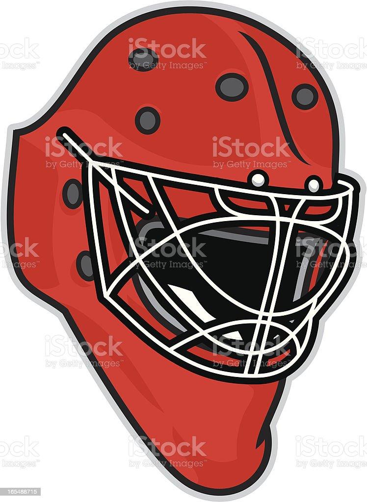 Basic Goalie Helmet vector art illustration