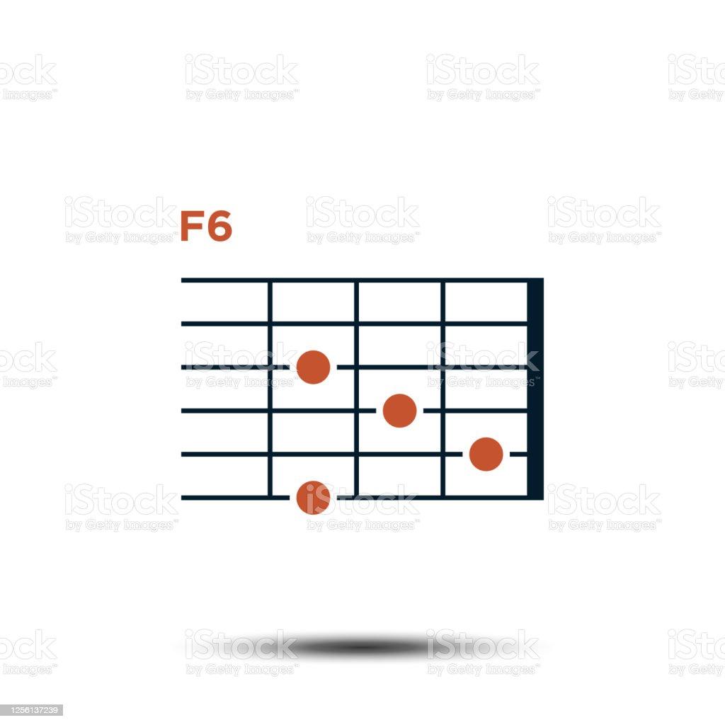 F15 Basis Gitarre Chord Diagramm Icon Vektor Vorlage Stock Vektor ...