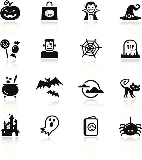 basic-halloween-symbol - megabat stock-grafiken, -clipart, -cartoons und -symbole
