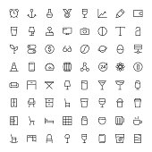 Basic Icon 64 Icons Set 3 - Line Series