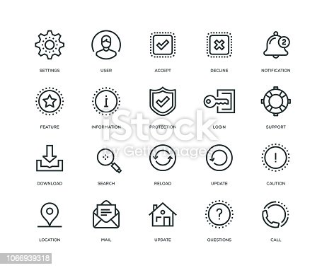 Basic Interface Icons - Line Series
