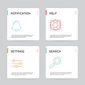 istock Basic Interface Infographic Design Template 909886268