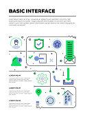 Basic Interface Infographic Design