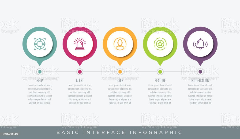 Basic Interface Infographic vector art illustration