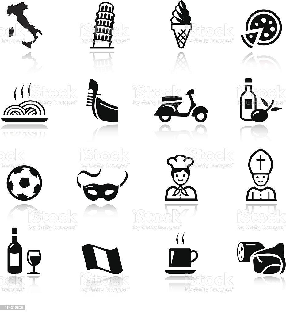 Basic - italian icons vector art illustration
