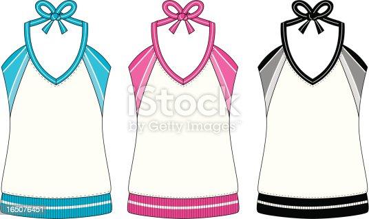 Basic Ladies Sports Vest with Stripe Detail