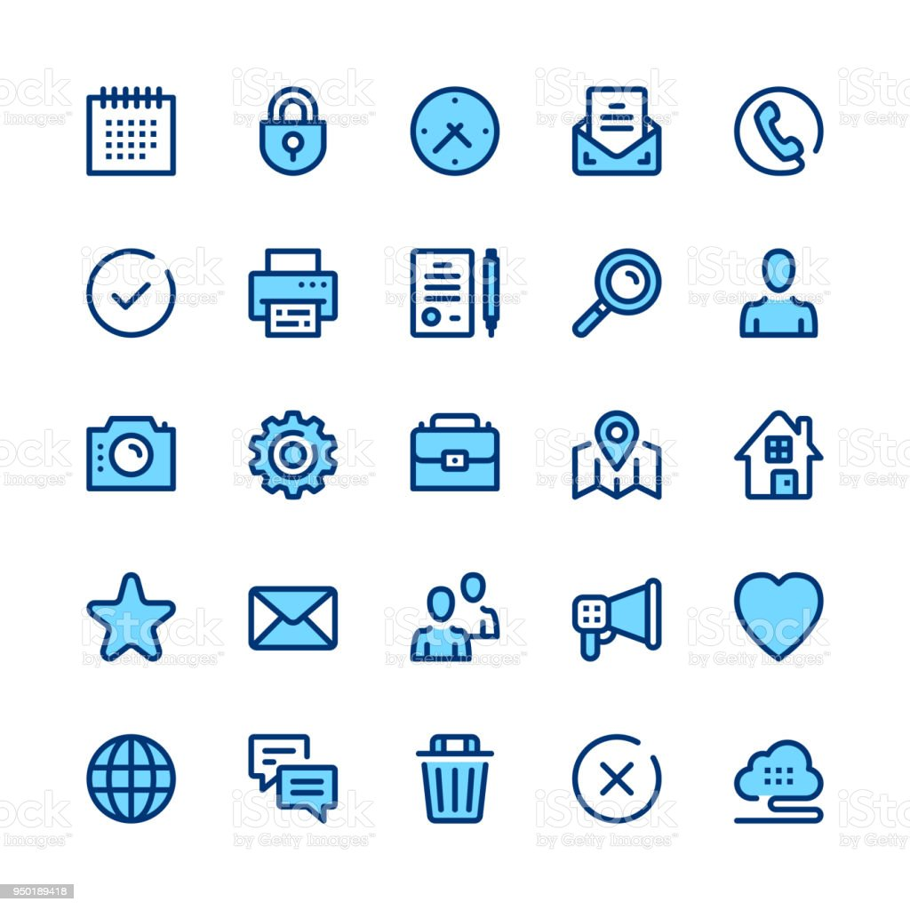 Basic line icons set. Modern graphic design concepts, simple symbols, linear stroke web elements, pictograms collection. Minimal thin line design. Premium quality. Pixel perfect. Vector outline icons vector art illustration