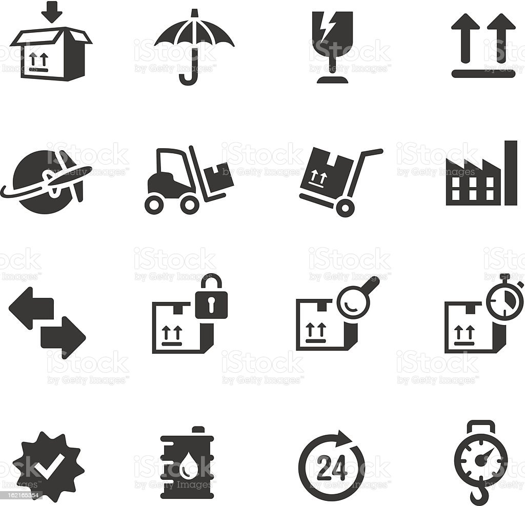 Basic - Logistic and Shipping icons royalty-free stock vector art