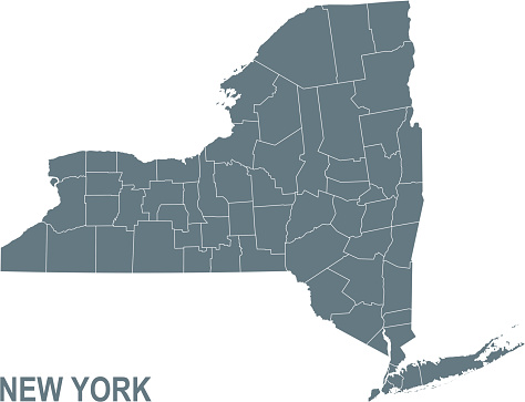 Basic map of New York including boundary lines