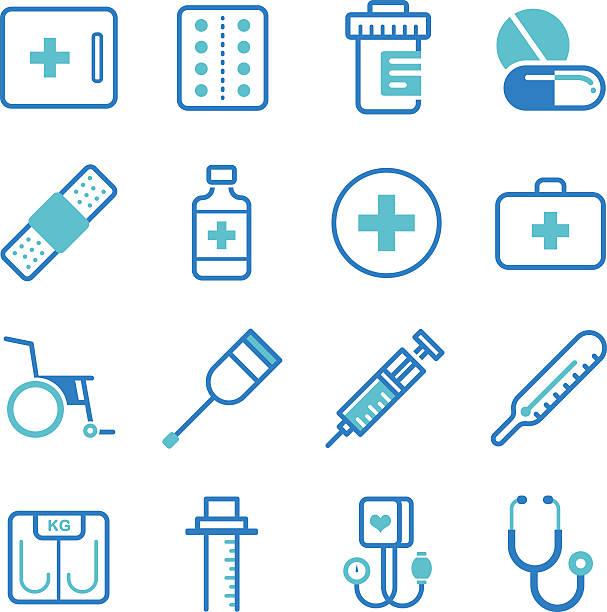 基本的な医療機器のアイコンを設定します。 - 医療機器点のイラスト素材/クリップアート素材/マンガ素材/アイコン素材