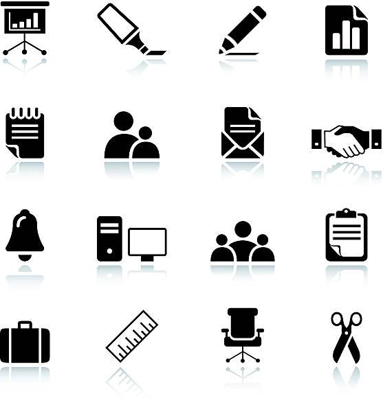 stockillustraties, clipart, cartoons en iconen met basic -  office and business icons 03 - pen schrijfgerei