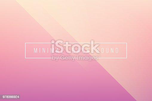 istock Basic Pink Minimal Elegant Abstract Lineer Crease Pattern Vector Background 978386924