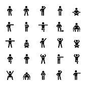 Basic posture icon set