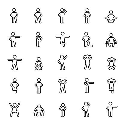 Basic posture icons
