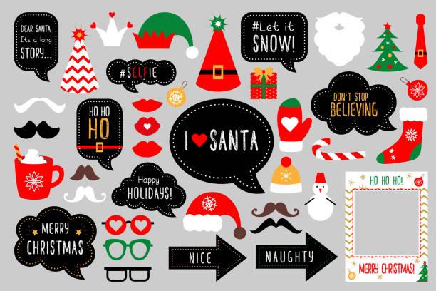 ilustrações de stock, clip art, desenhos animados e ícones de basic rgb - christmas elements