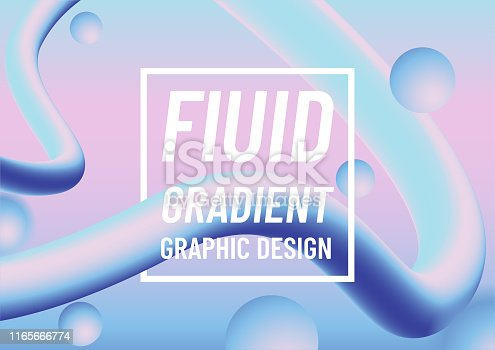 Fluid gradient abstract background. Colorful design. Vector Illustration.