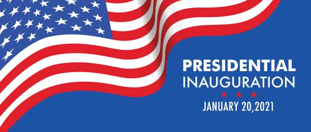 Basic RGB USA Presidential Inauguration Day on January 20th 2021 vector banner. inauguration stock illustrations