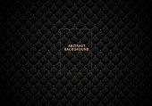 Black leather sofa texture background. Luxury and elegant dark texture background. Vector illustration.