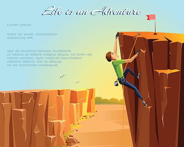 basic rgb - rock climbing stock illustrations, clip art, cartoons, & icons