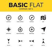 Basic set of compass icons