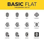Basic set of Fingerprint icons