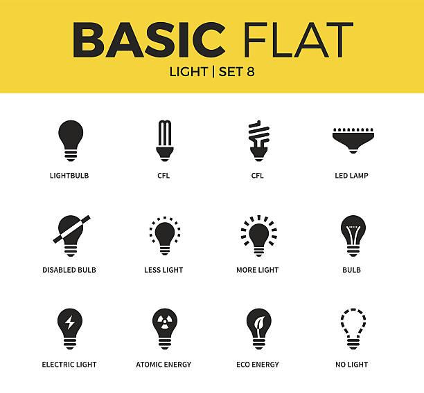 basic set of light icons - 環境問題点のイラスト素材/クリップアート素材/マンガ素材/アイコン素材