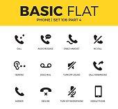 Basic set of phone icons