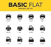 Basic set of Printer icons