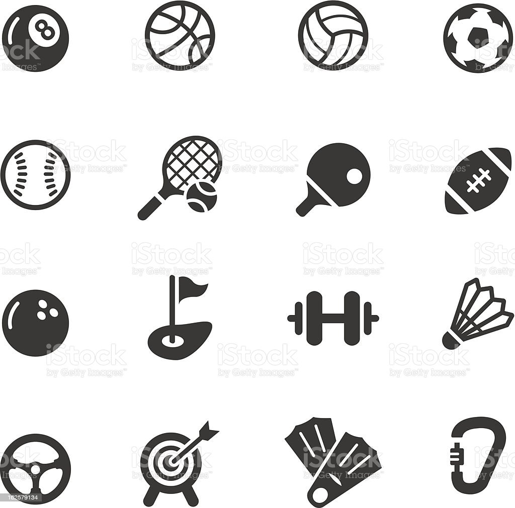 Basic - Sport icons vector art illustration