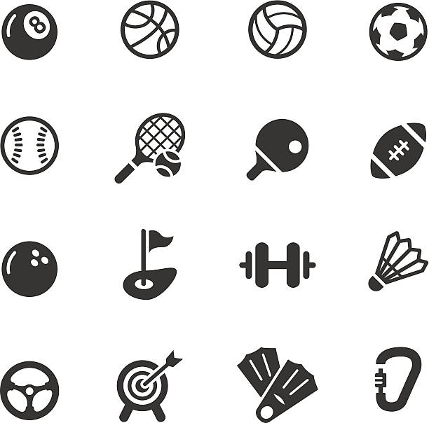 Basic - Sport icons Vector illustration, Each icon can be used at any size.  racket stock illustrations