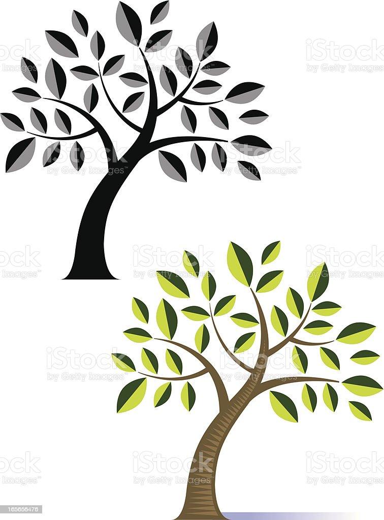Basic tree royalty-free stock vector art